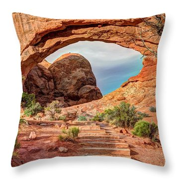 Stairway To Heaven - North Window Arch Throw Pillow