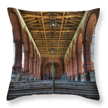 Stairway To History Throw Pillow