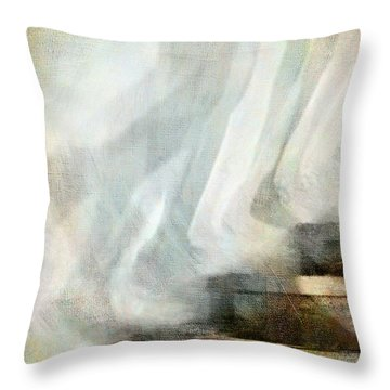Left Behind Throw Pillow by Jennie Breeze
