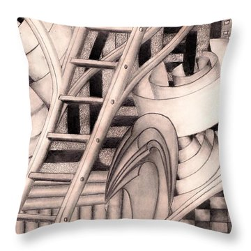Stairway To.... Throw Pillow by John Stuart Webbstock