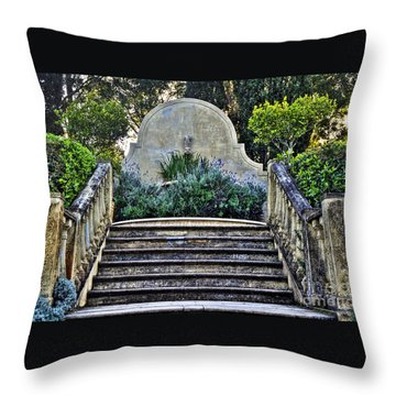 Stairway To Nowhere Throw Pillow by Kaye Menner