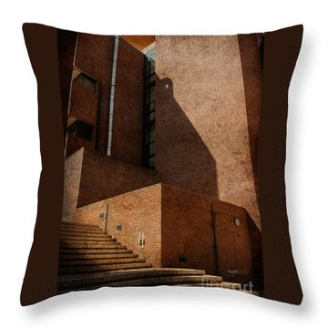 Stairway To Nowhere Throw Pillow by Lois Bryan