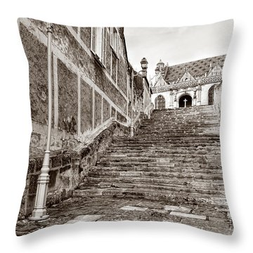 Stairway To Salvation  Throw Pillow by Olivier Le Queinec