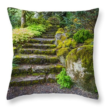 Stairway To The Secret Garden Throw Pillow