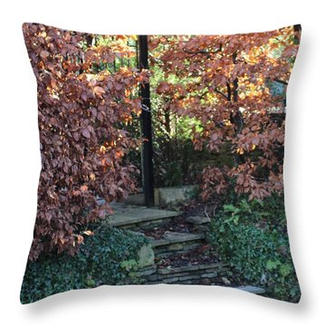 Stairway To Tranquility Throw Pillow