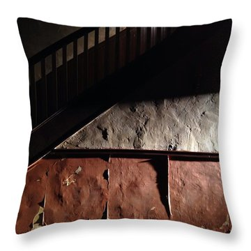 Stairwell Throw Pillow by H James Hoff