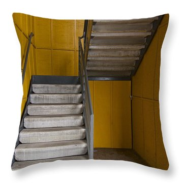 Stairwell Throw Pillow by Sean Griffin
