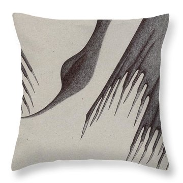 Stalactites Overhead Throw Pillow by Giuseppe Epifani