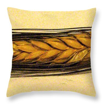 Throw Pillow featuring the photograph Stalk Of Wheat by Merton Allen