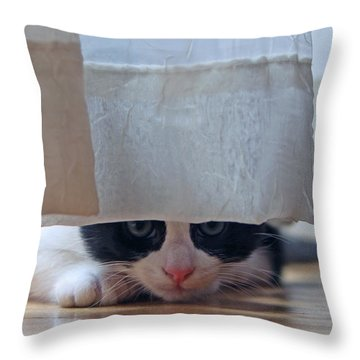 Stalking Me Throw Pillow
