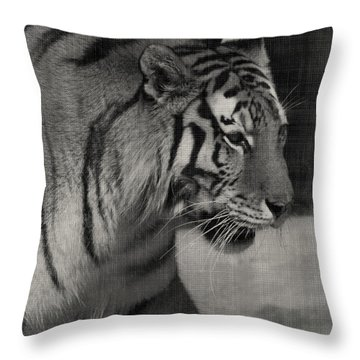 Stalking Tiger Throw Pillow