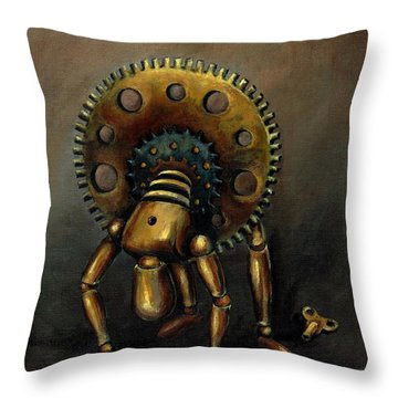 Stalled Throw Pillow by Sarah Farren