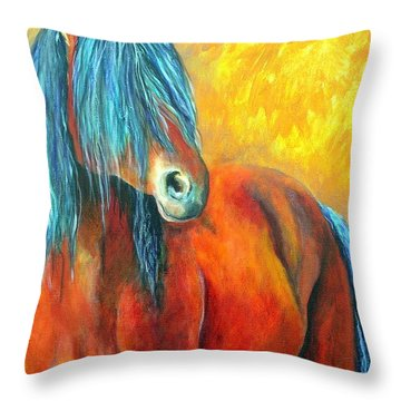 Stallions Concerto  Throw Pillow