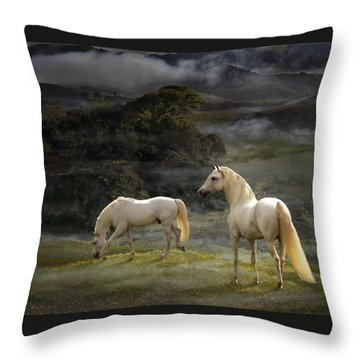 Stallions Of The Gods Throw Pillow