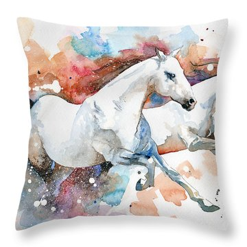 Stallions Throw Pillow