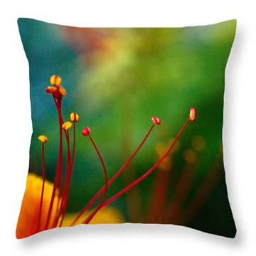 Stamen And Pistil Throw Pillow