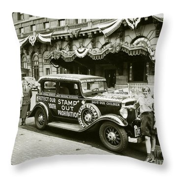 Stamp Out Prohibition Throw Pillow