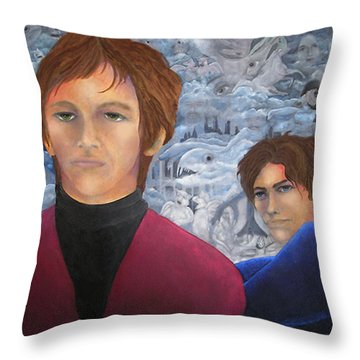 Stan And Larry Rice 1965 Throw Pillow