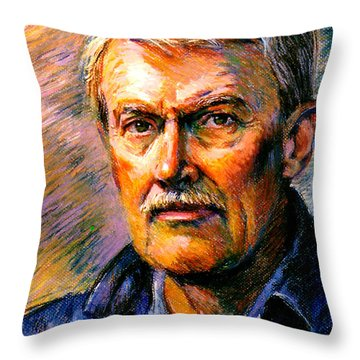 Stan Esson Self Portrait Throw Pillow by Stan Esson