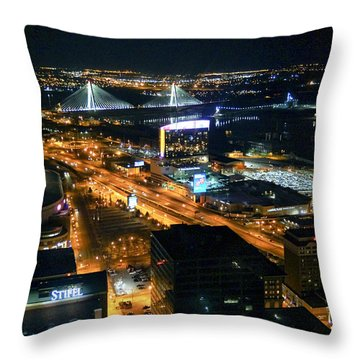 Stan Musial Bridge In St Louis Mo Dsc03215 Throw Pillow