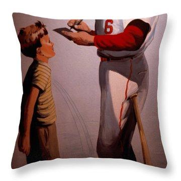 Stan Musial Mural Throw Pillow