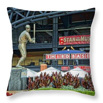 Stan Musial Statue At Busch Stadium St Louis Mo Throw Pillow