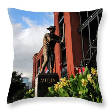 Stan Musial Statue Throw Pillow