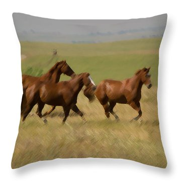 Throw Pillow featuring the photograph Stances by Rima Biswas