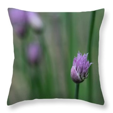 Not Just A Pretty Flower Throw Pillow by Debbie Oppermann