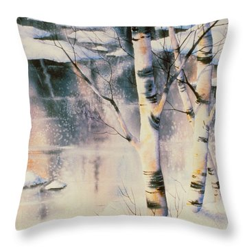 Stand Of Birch Throw Pillow