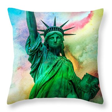 Declaration Of Independence Throw Pillows