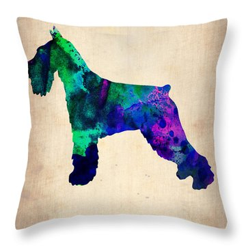 Standard Schnauzer Poster Throw Pillow