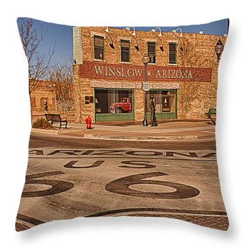 Standin' On The Corner Park Throw Pillow