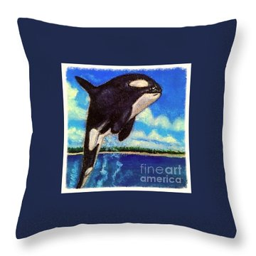 Throw Pillow featuring the painting Standing Above The Rest by Kimberlee Baxter