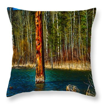 Standing Alone Throw Pillow by Omaste Witkowski