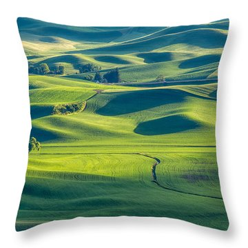 Standing Alone Throw Pillow by Patricia Davidson
