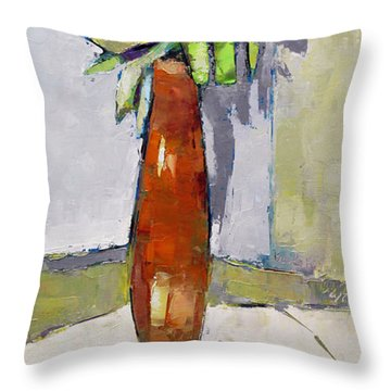Standing Astride Throw Pillow by Becky Kim