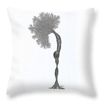 Standing Backward Bend Throw Pillow