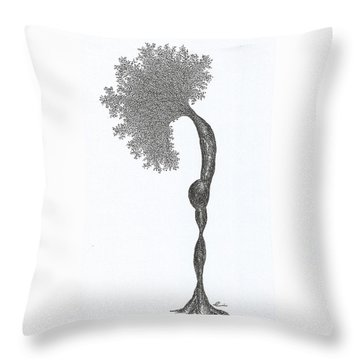 Standing Backward Bend Throw Pillow