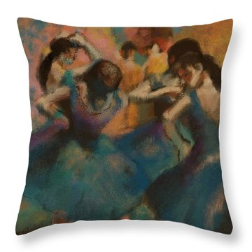 Standing Ballerinas Throw Pillow