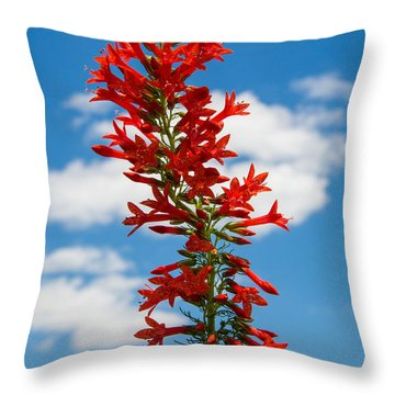 Standing Cypress With Clouds Throw Pillow