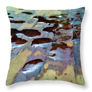 Throw Pillow featuring the photograph Standing Drops by Tyson Kinnison