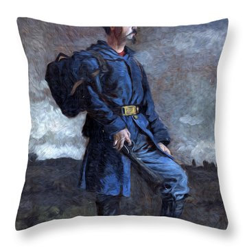 Standing Gaurd Throw Pillow