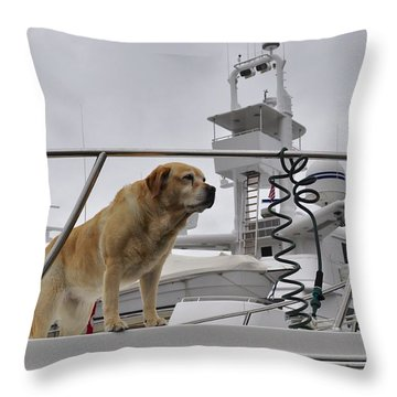 Standing Guard Throw Pillow by Cathy Mahnke
