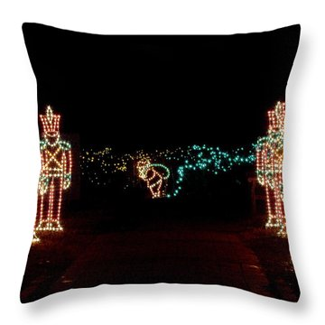 Standing Guard Throw Pillow by Rodney Lee Williams