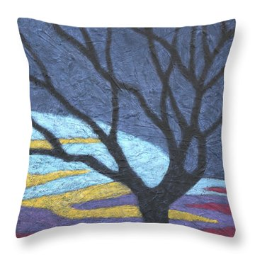 Standing In A Thundercloud Throw Pillow