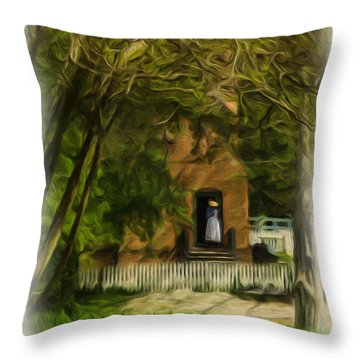 Standing In The Doorway Throw Pillow