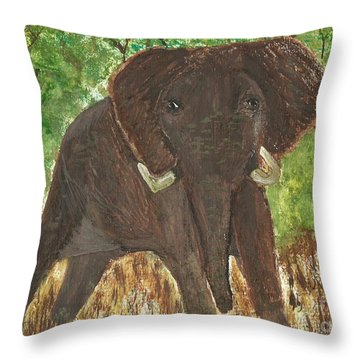 Throw Pillow featuring the painting Standing My Ground by Tracey Williams