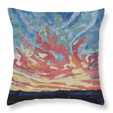 Standing Outside The Fire Throw Pillow