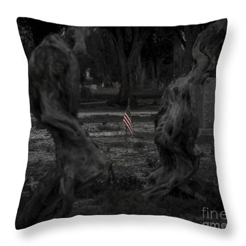 Throw Pillow featuring the photograph Standing Proud by Amber Kresge